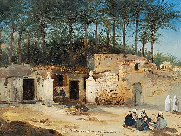 Franciszek Tepa, Z podróży do Egiptu, (z katalogu domu aukcyjnego Agart)