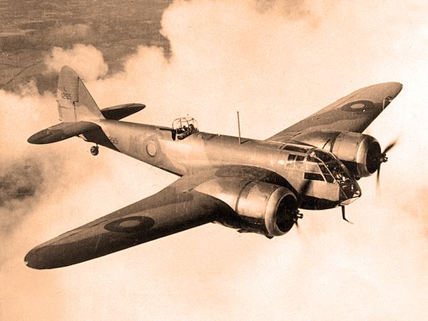 Lekki bombowiec brytyjski Bristol Blenheim (Fot. pl.wikipedia.org)
