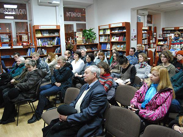 Podczas prezentacji książek (Fot. Konstanty Czawaga)