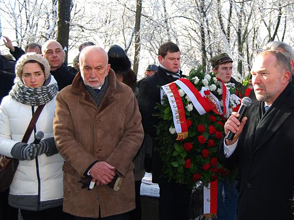 Przemawia Jacek Michałowski, szef Kancelarii Prezydenta RP (Fot. Konstanty Czawaga)