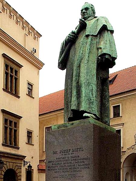 Pomnik Józefa Dietla dłuta Xawerego Dunikowskiego w Krakowie (Fot.krakow.pl)