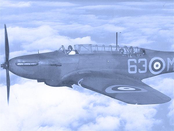 "Lekki bombowiec brytyjski  Fairey ""Battle"" (Fot. pl.wikipedia.org)"