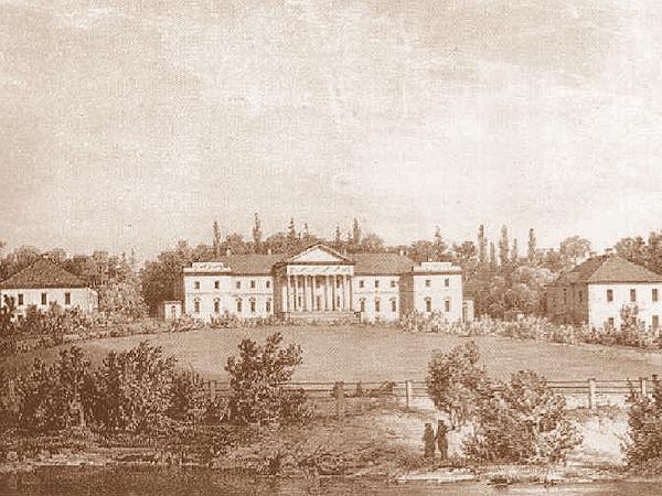 Pałac Hańskich w Wierzchowni w 1860 roku (Fot. pl.wikipedia.org)