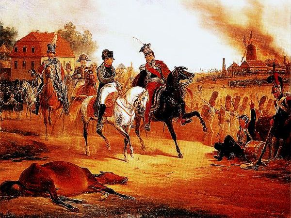 January Suchodolski, Napoleon i książe Józef Poniatowski pod Lipskiem