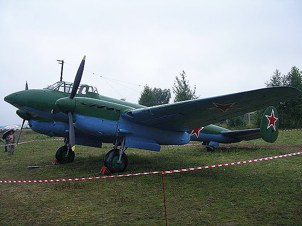 """Bombowiec nurkujący Pe-2 popularnie znany """"peszką"""" (Fot. pl.wikipedia.org)"""