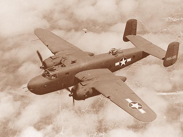 Amerykański bombowiec B-25 przekazany Związkowi Radzieckiemu (Fot. pl.wikipedia.org)