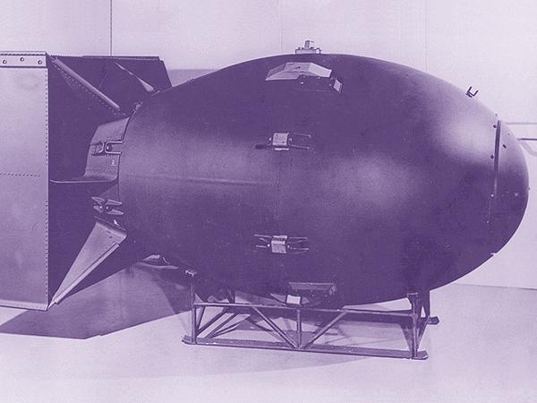Druga bania prezydenta Trumana. Fat man, czyli Grubas. Materiał rozszczepialny – pluton. Cel – Nagasaki (Fot. freeinfosociety.com)