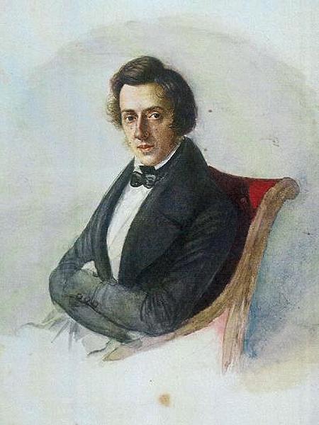 Portret Chopina, akwarela Marii Wodzińskiej, 1836 r. (Fot. dziennikpolski24.pl)