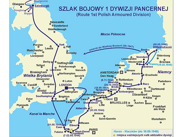 Szlak bojowy 1 dywizji Pancernej (Fot. ivrozbiorpolski.pl)