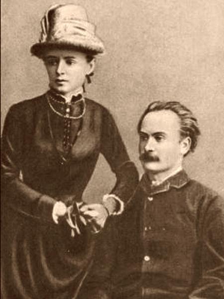Iwan Franko z małżonką Olgą, 1886 r. (Fot. Włodzimierz Wysocki)