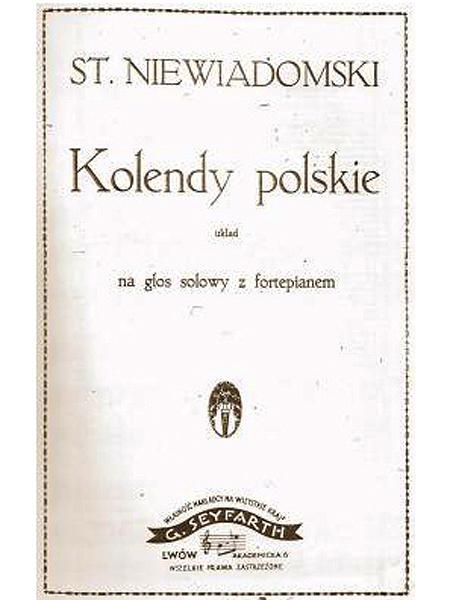 """Stanisław Niewiadomski """"Kolędy polskie"""", Lwów 1925 (Fot. archiwum autora)"""