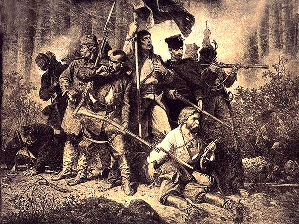 "Artur Grottger, ""Polonia 1863"" – Bitwa"