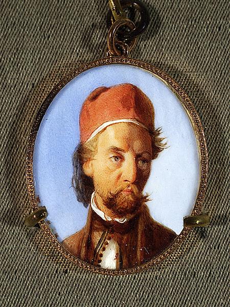 Franciszek Tepa, Portret Adama Potockiego(Akwarela, gwasz na kości słoniowej. Muzeum Narodowe, Warszawa)