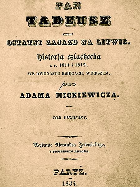 """Pierwszym wydawcą """"Pana Tadeusza"""" mógł być Jan Milikowski. Był gotów zapłacić Mickiewiczowi za dzieło, kiedy poemat nie był napisany nawet w połowie. Wieszcz znalazł jednak wydawcę, który zaoferował mu dwa razy tyle (Fot. mat. pras. gazetacodzienna.pl)"""