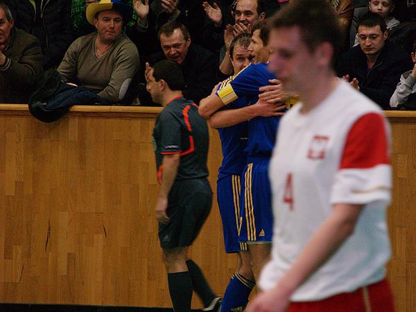 Radość piłkarzy Ukraińskich (Fot. Eugeniusz Sało)