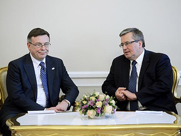 Prezydent RP Bronisław Komorowski spotkał się z szefem ukraińskiego MSZ