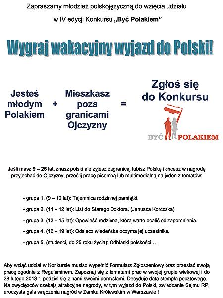 """IV edycja konkursu """"Być Polakiem"""""""