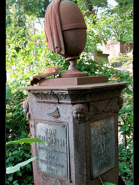 Mogiła Jana Milikowskiego na cmentarzu Łyczakowskim we Lwowie