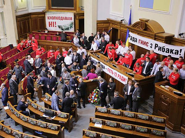 Druga doba blokady ukraińskiego parlamentu