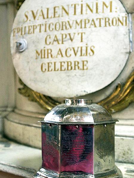 Relikwii św. Walentego na całym świecie jest bez liku (Fot. ks. Marian Skowyra)