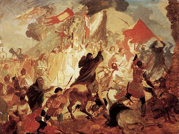 Karl Bryullov, Oblężenie Pskowa przez Stefana Batorego w 1581 roku (Fot. wikipaintings.org)