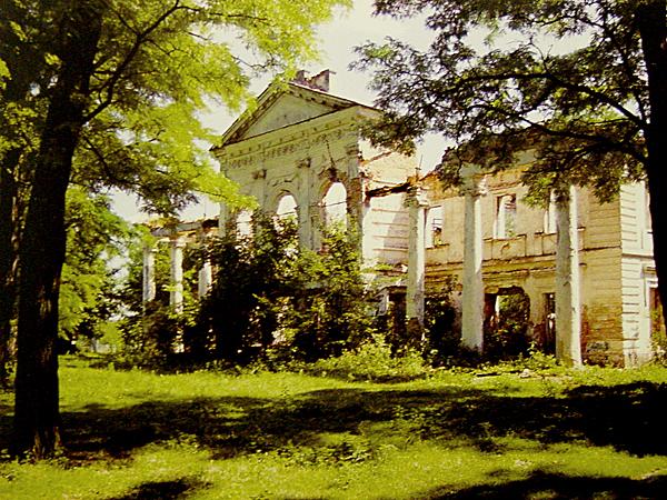 Pałac w Rudym Siole, fasada ogrodowa