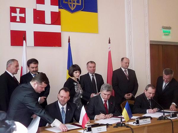 Podpisanie Umowy o punkcie styku granic (Fot. Agnieszka Ratna)