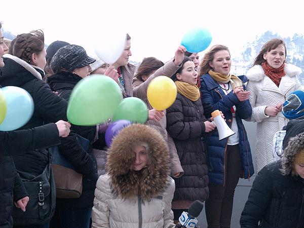 Flash mob wielbicieli Liny Kostenko