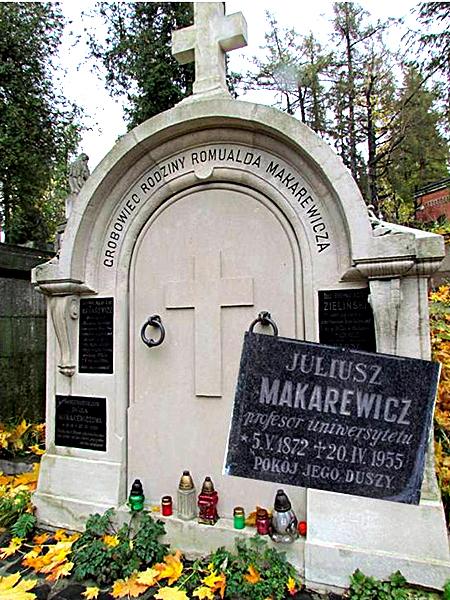Grobowiec rodziny Romualda Makarewicza, w którym został pochowany Juliusz Makarew