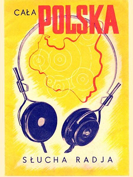 Grafika propagandowa popularyzująca audycje Polskiego Radia (Fot. historiaradia.neostrada.pl)