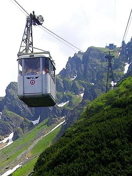 Kolejka linowa z Kuźnic na Kasprowy Wierch (Fot. pl.wikipedia.org)