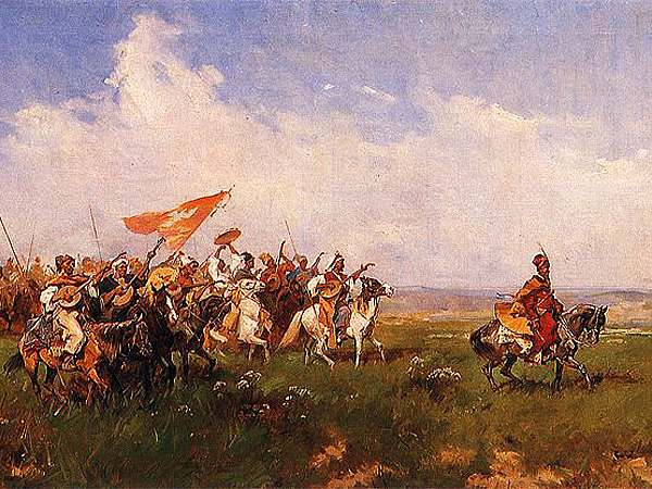 Powitanie stepu, Józef Brandt, 1874 (Fot. pinakoteka.zascianek.pl)