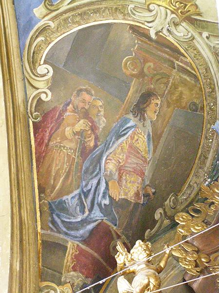 Fragment fresku, przedstawiający króla Jana Kazimierza w kaplicy Matki Boskiej Pocieszenia (Fot. Jurij Smirnow)