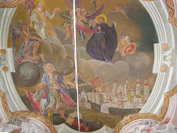 """Fragment fresku """"Obrona Lwowa przed Turkami"""" (Fot. Jurij Smirnow)"""