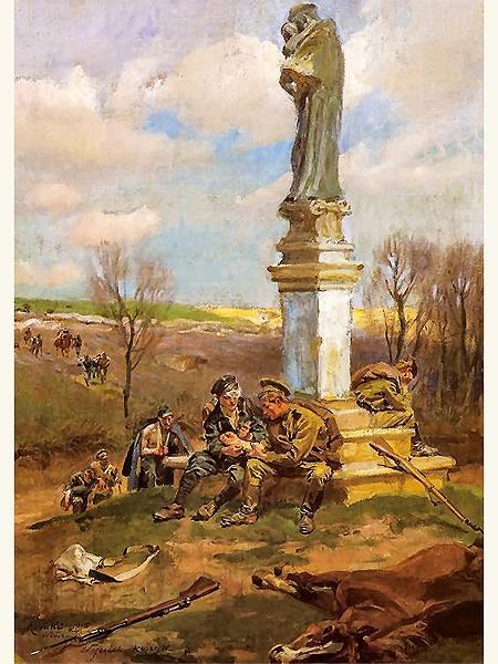 Wojciech Kossak, Po bitwie – refugium silentium, 1915 (Fot. www.pinakoteka.zascianek.pl)