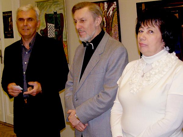 Wołodymyr Pszyk (od lewej), Sarwasz Gabor, Larysa Malech i Janusz Wiszki (Fot. Jurij Smirnow)