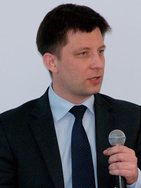 Michał Dworczyk z Fundacji Wolność i Demokracja (Fot. Maria Basza)