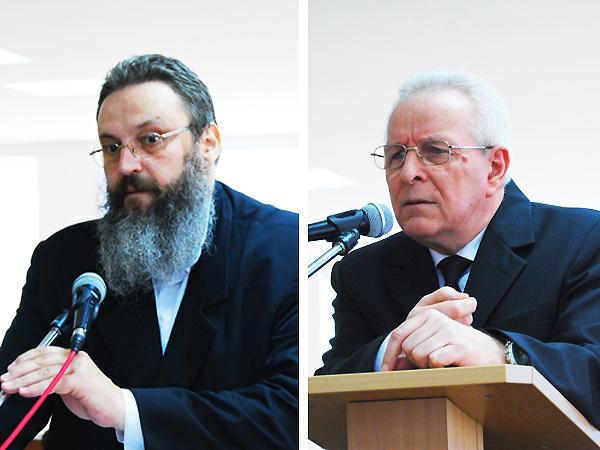 Ks. Witold Józef Kowalów oraz Andrzej Wawryniuk (Fot. Konstanty Czawaga)