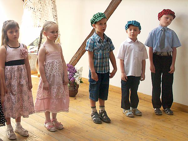 Dzieci z polskiej grupy w przedszkolu przy ul. Metrologicznej we Lwowie (Fot. Maria Basza)