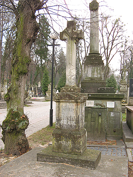 Józef Dzierzkowski został pochowany na cmentarzu Łyczakowskim we Lwowie. Na jego grobie ustawiono zwykły kamienny krzyż (Fot. Beata Kost)