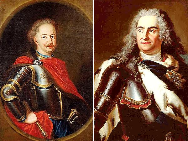 Stanisław Leszczyński i August II Sas (Fot. sp9nauka.weebly.com/odkrywcy.pl)
