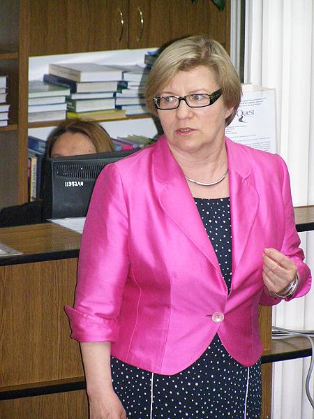 Ewa Kobierska-Maciuszko, dyrektor Biblioteki Uniwersytetu Warszawskiego (Fot. Jurij Smirnow)