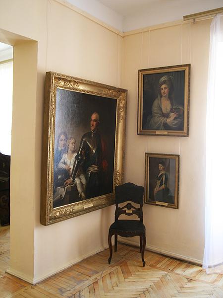 Oryginal obrazu J. Limpiego przedstawia Potockiego z synami. Obecnie mieści się w Muzeum Artystycznym w Winnicy (Fot. Dmytro Antoniuk)