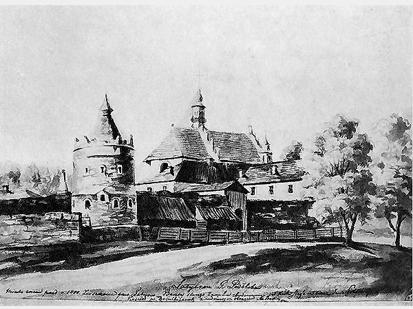 Latyczów, resztki zamku Potockich i koś. podominikański (Fot. pinakoteka.zascianek.pl)