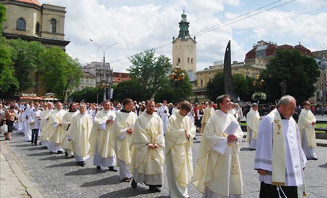 Procesja Bożego Ciała we Lwowie