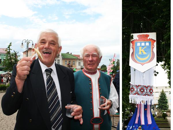 Goście z Gorlic i herb Kałusza (Fot. Sabina Różycka)