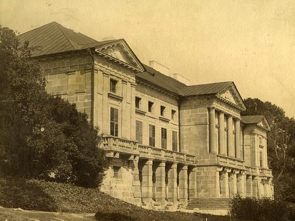 Widok elewacji ogrodowej pałacu Orłowskich w Malejowcach (Fot. fototeka.ihs.uj.edu.pl)