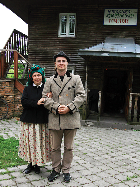 Halina Hubeni z autorem artykułu (Fot. Dmytro Antoniuk)