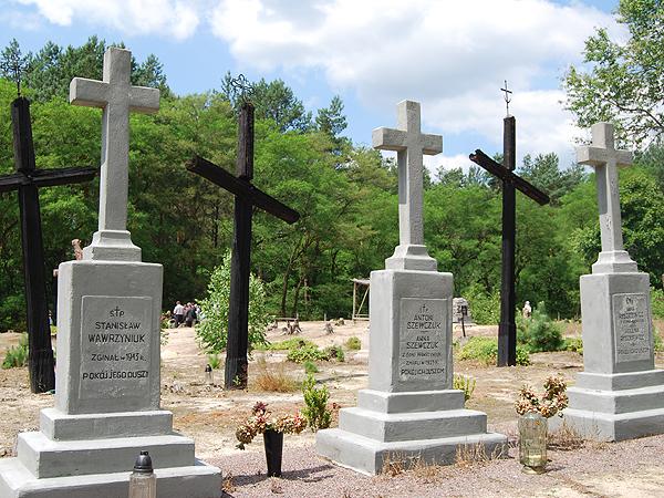 Cmentarz we d. wsi Ostrówki, zniszczonej podczas rzezi wołyńskiej w 1943 r. (Fot. Konstanty Czawaga)
