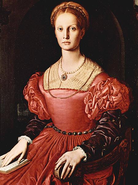Portret Lucrezii Panciatichi autorstwa Angelo Bronzino, często stosowany jako portret Erzsébet Báthory (Fot. upload.wikimedia.org)
